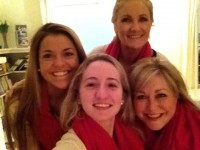 Go Red - Best Friends and 2 Generations of Women!