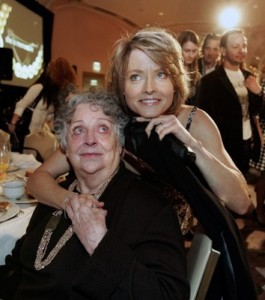 "Photo of Jodie Foster & her Mother  Evelyn Ella ""Brandy"""