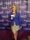 On the Alzheimer's purple carpet ready to interview the evening's stars