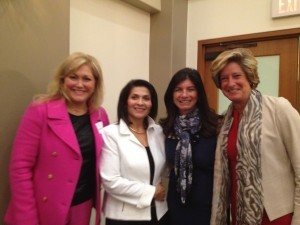 The Judy Fund Event (L to R): Sherri Snelling, Caregiving Club; Dr. Maria Carillo, National Alzheimer's Association; Elizabeth Gelfand-Stearns, The Judy Fund; Dr. Jill Kalman, Mt. Sinai Medical Center New York