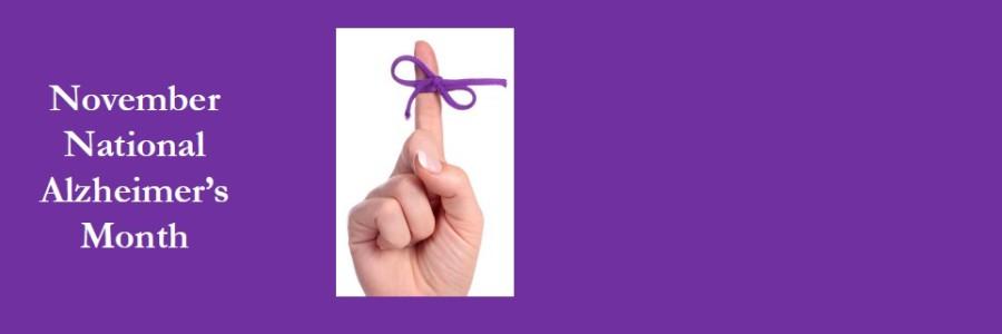 November is National Alzheimer's Month