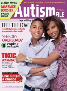 cover of autism file magazine Apr 2012